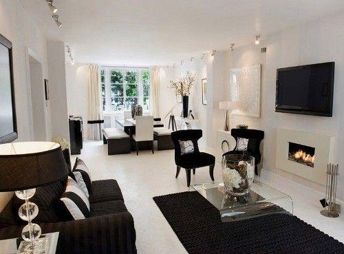 3 Ide Interior Ruang Tamu Minimaliam Putih Grauer Couch Dekor Black And White
