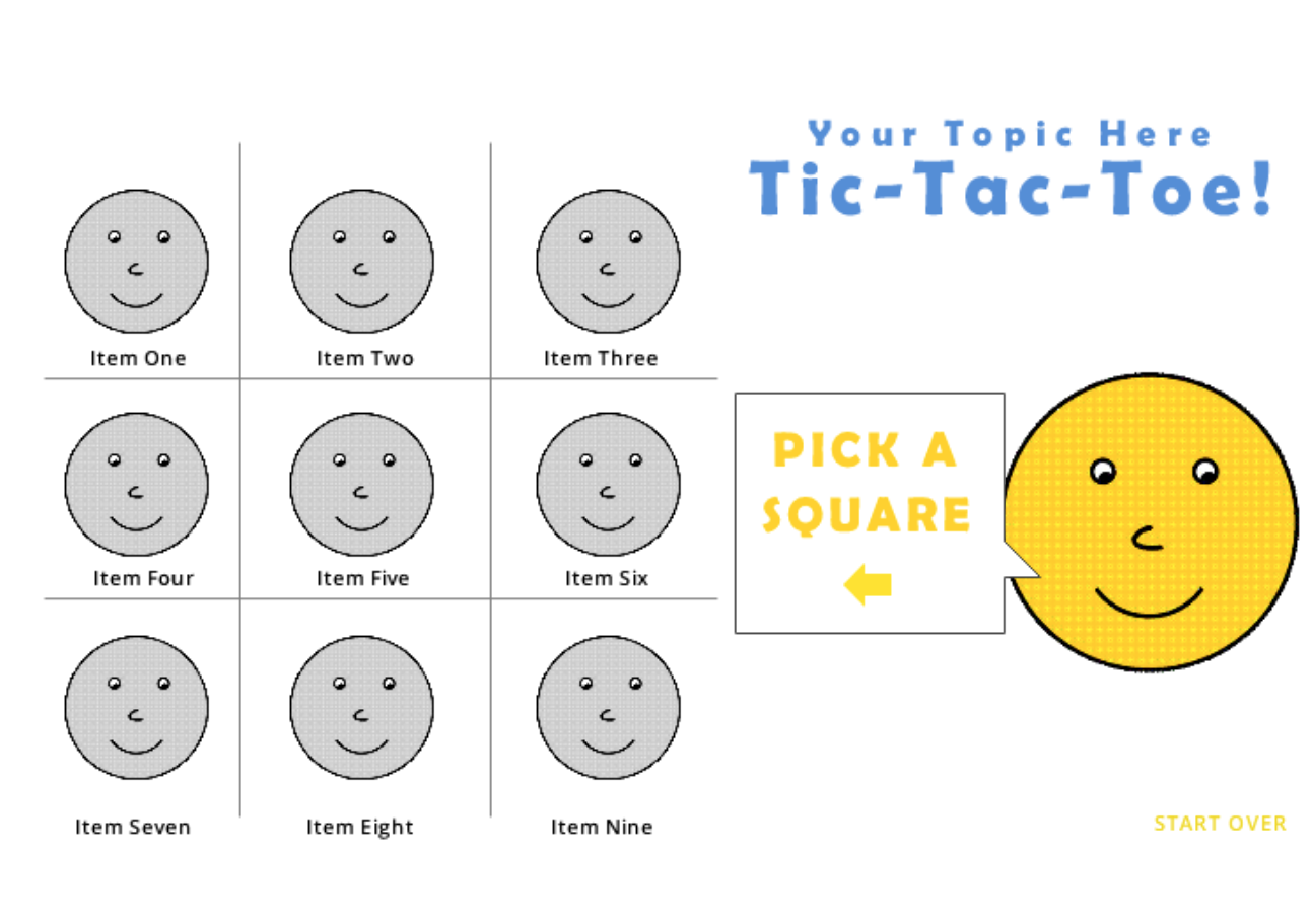 Tic Tac Toe Game Template