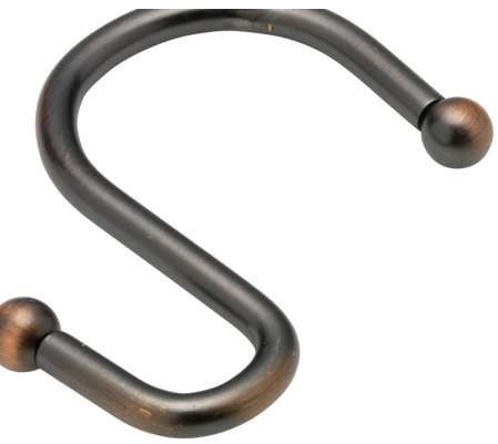 Royal Bath S Type Oil Rubbed Bronze Heavy Weight Metal Shower Curtain Hooks Set Of
