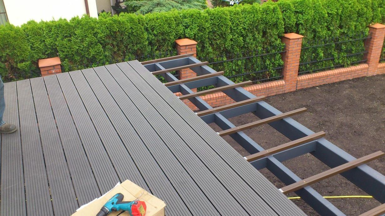 balcony best DIY floor use wpc material, non slip for composite ...