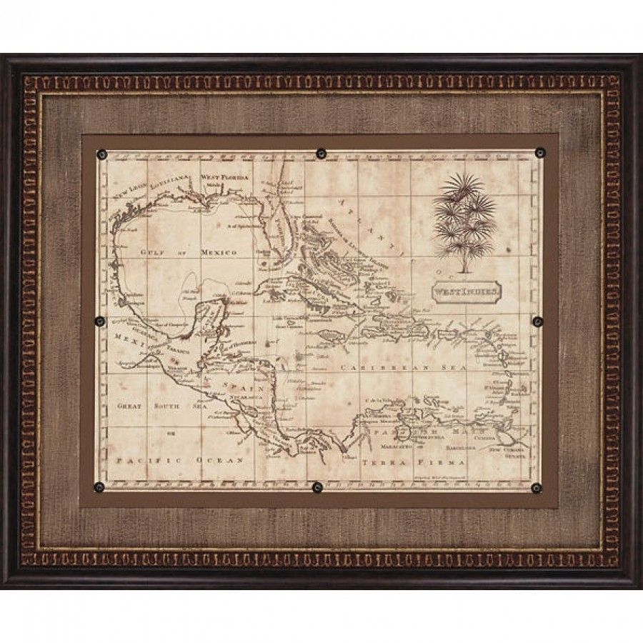 Paragon Caribbean Old World Map 1806 Framed Print Arrowsmith