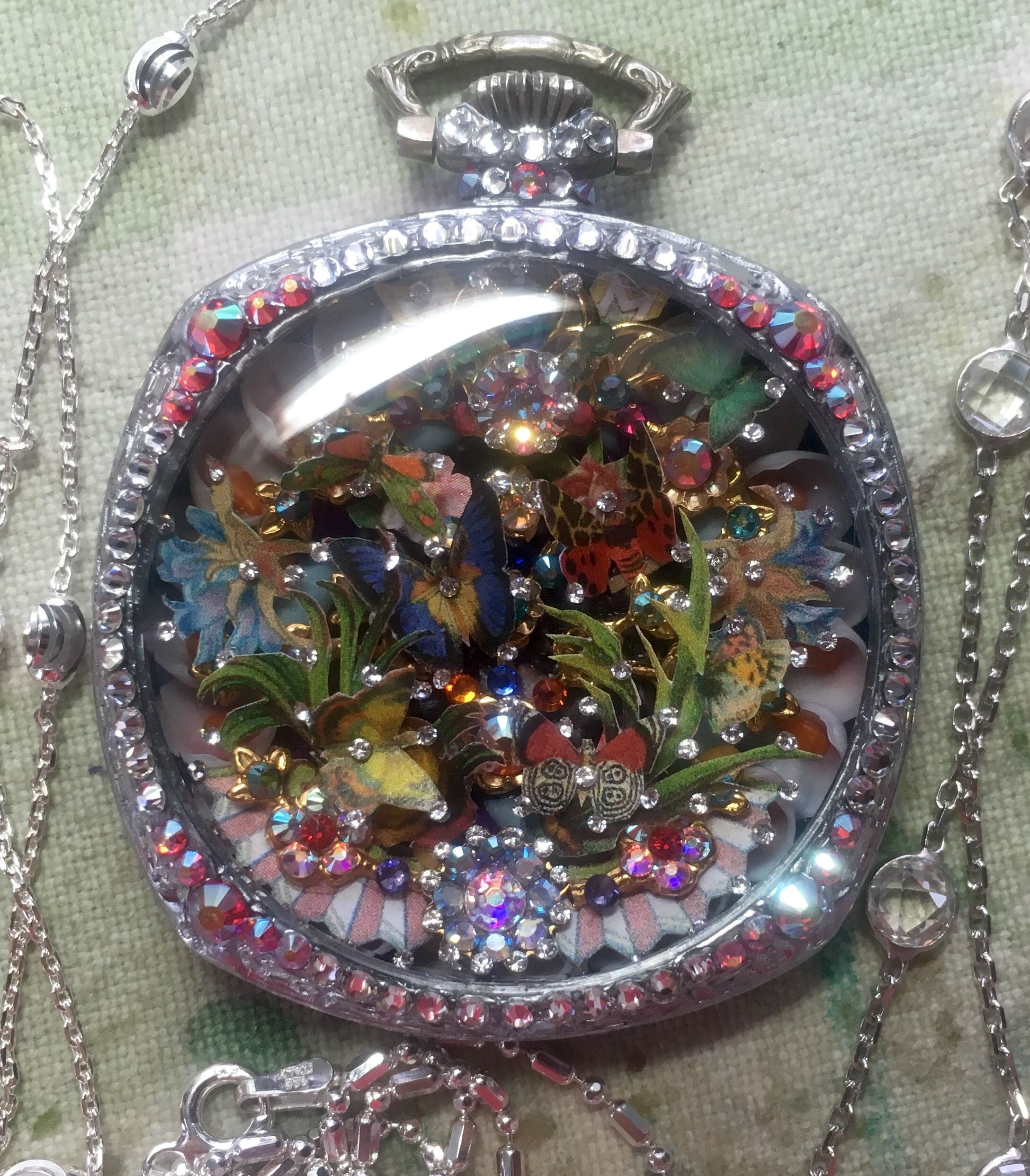mirror son keys my made mostly pin watches jewelry frame a mosaic i using metal for