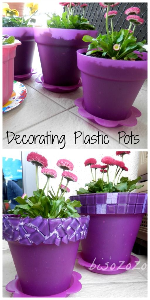 How To Decorate Plant Pots Plastic