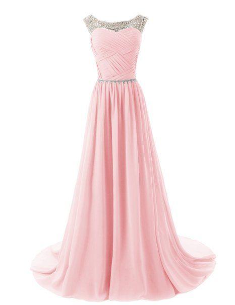 Dressystar Herzform Chiffon Lange Brautjungfernkleid Perlen Ballkleid Amazon De Bekleidung Ballkleid Kleider Schone Kleider