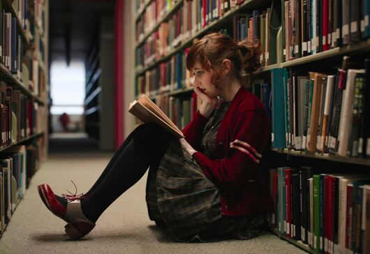 alone... | Library photo shoot, Book photography, Photo