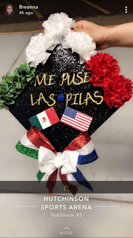 Graduation Cap. I put the batteries. Mexican American – #American #batteries #ca…