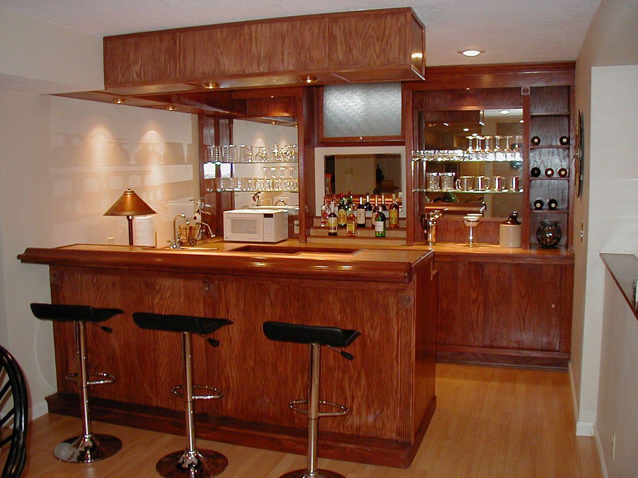 Hybrid Home Bar built using EHBP-03 plan set and some custom bar ...