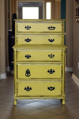 Dresser Makeover With Mismatched Hardware Yellow Dresser Matching Dressers Redo Furniture