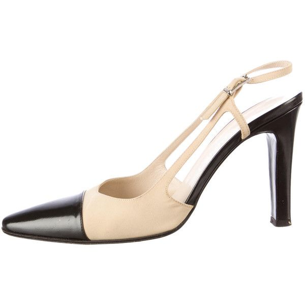 b9688947da2 Pre-owned Chanel Slingback Pumps ( 265) ❤ liked on Polyvore featuring shoes