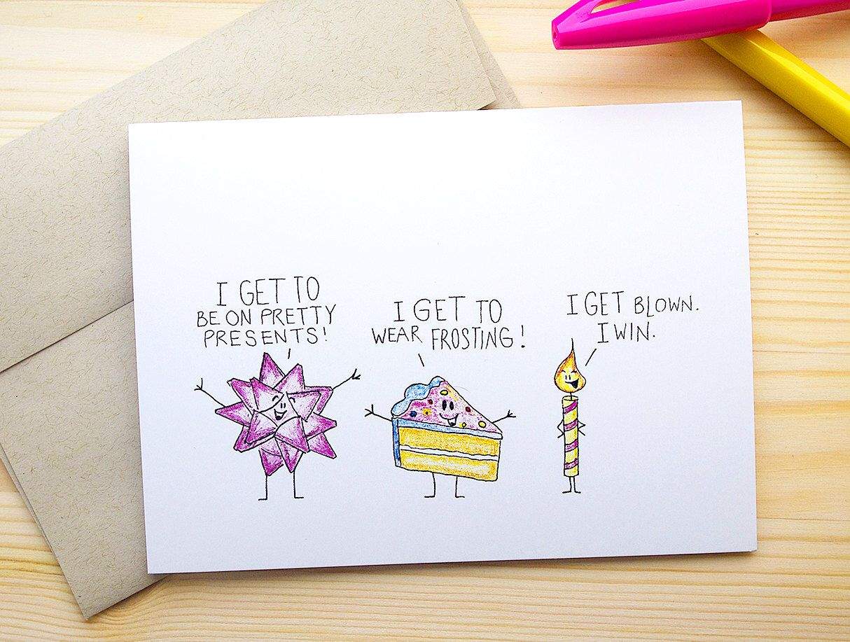 Funny Birthday Card For Him Dirty Happy