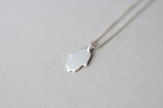 Photo of Hand of Fatima Necklace, Hamsa Silver Jewelry, Silver Hamsa Pendant, Hamsa Hand Necklace, Hand Of God Necklace, Dainty Hamsa Necklace