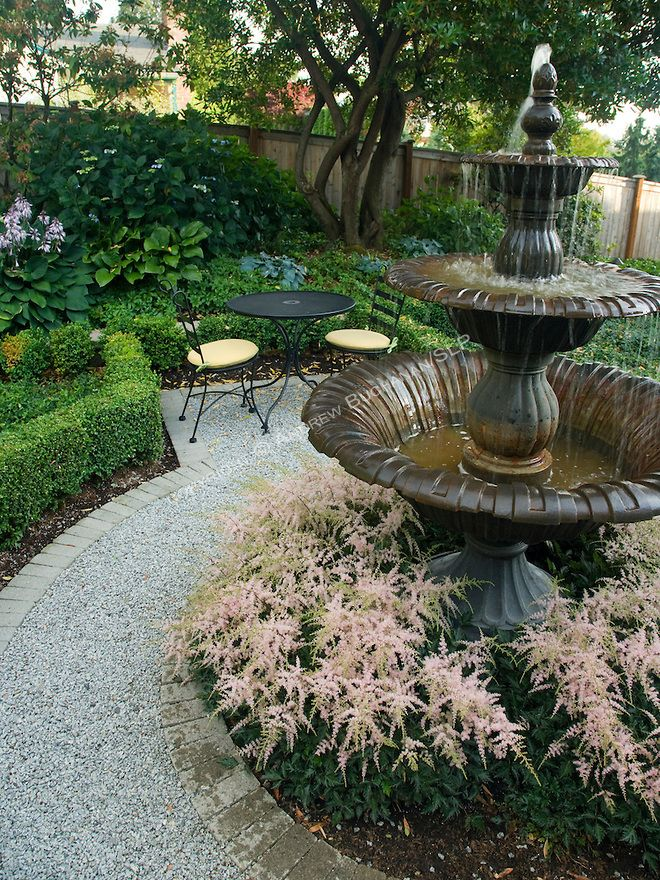 Df017742 Garden Formal Private Photo Jpg Homeandgardenphotos Com Garden Water Fountains Water Fountains Outdoor Landscaping With Fountains