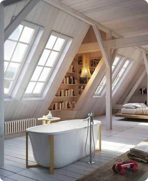am nager des combles en suite parentale avec salle de bains projet maison pinterest suite. Black Bedroom Furniture Sets. Home Design Ideas