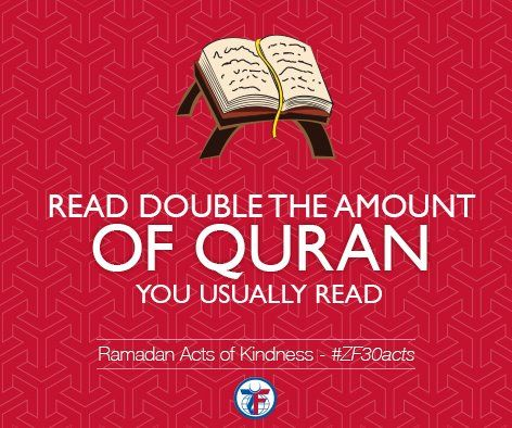Day 16 Read Double The Amount Of Quran You Usually Read Zf30acts Ramadan Ramadan Kareem Words