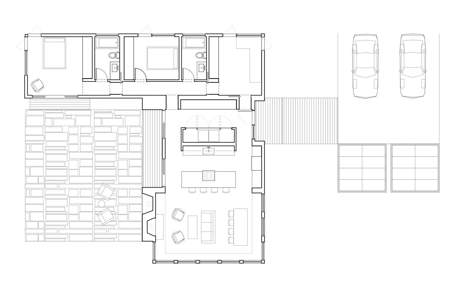 Diseno De Casa En Forma De L Planos Y Fachadas Planos - Planos-de-casas-en-l