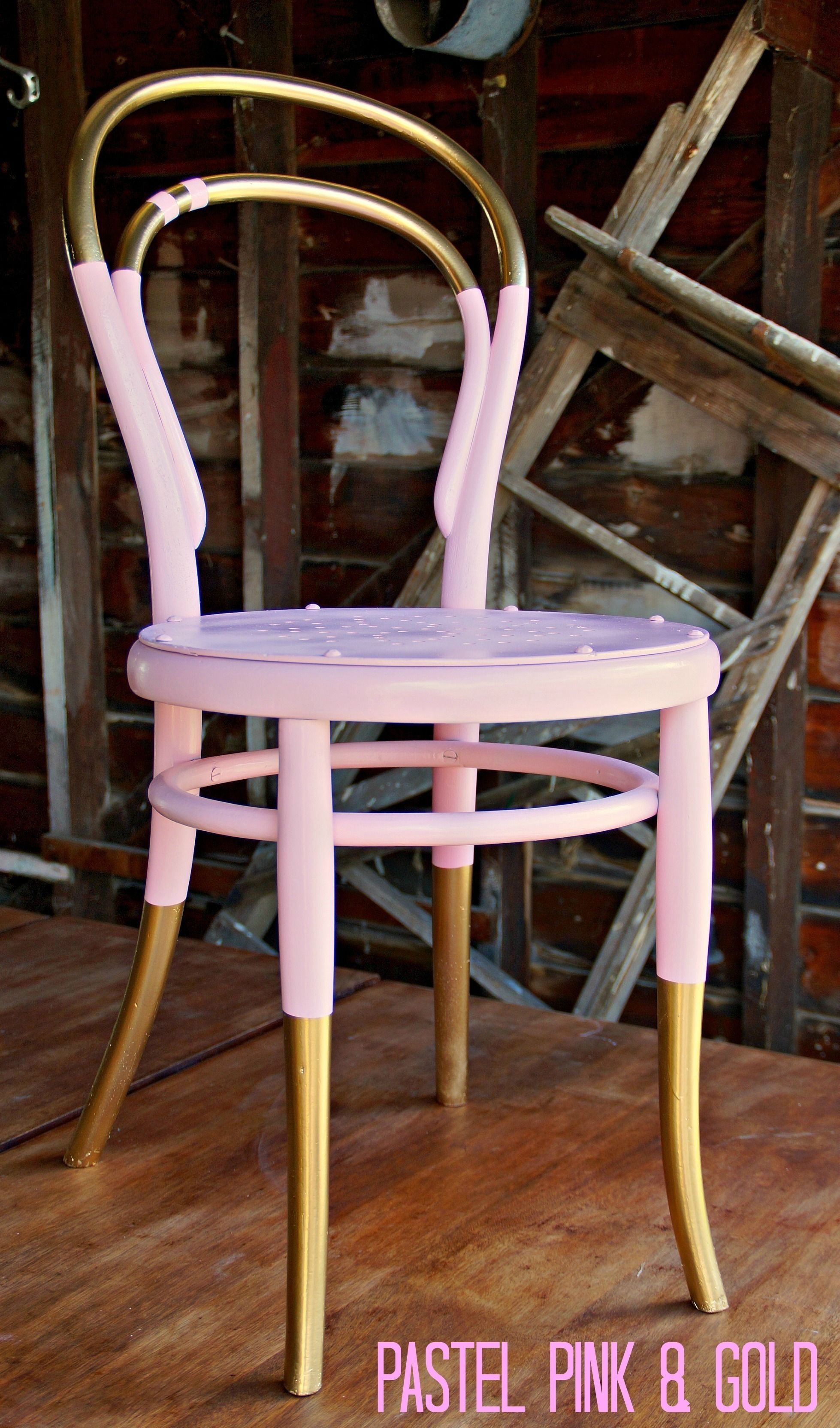Vintage Dip Dyed Bentwood Chair Turquoise painted
