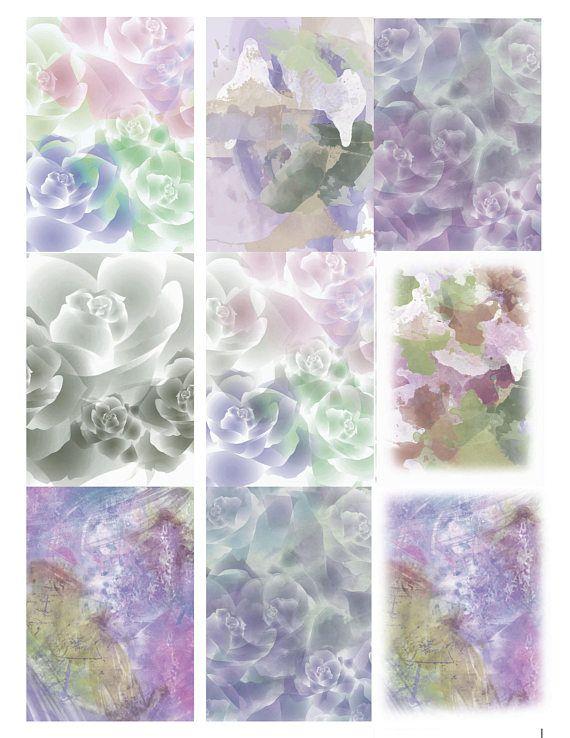 Floral Affirmation Cards Art Cards Atc Cards Blank Cards Etsy Card Art Affirmation Cards Artist Card