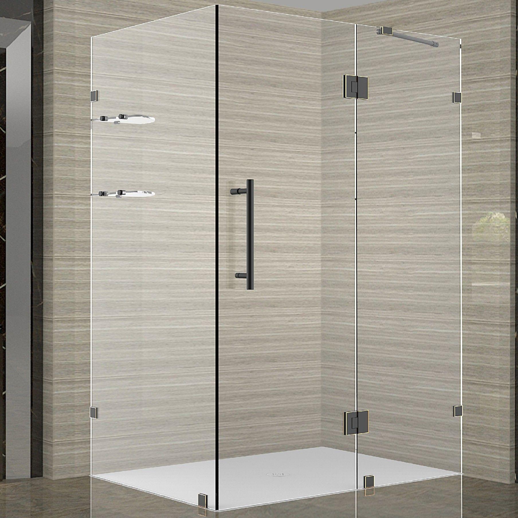Avalux Gs 42 X 72 Square Hinged Shower Enclosure Frameless Shower Enclosures Shower Enclosure Neo Angle Shower Enclosures