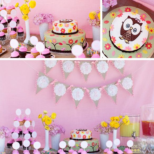 Baby shower ideas for girl with owl theme woodland themed baby shower events inspired by - Owl themed bathroom decor ...