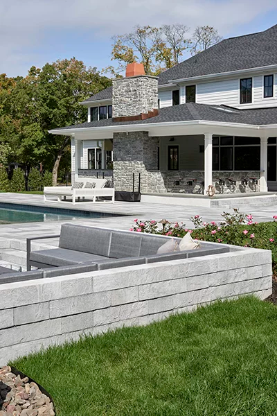 Backyard Landscaping In 2020 Backyard Patio Designs Retaining Wall Patio