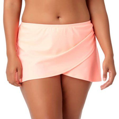 f05b839994d Plus Size Catalina Fashion Women s Plus Solid Wrap Skirted Swimsuit Bottom