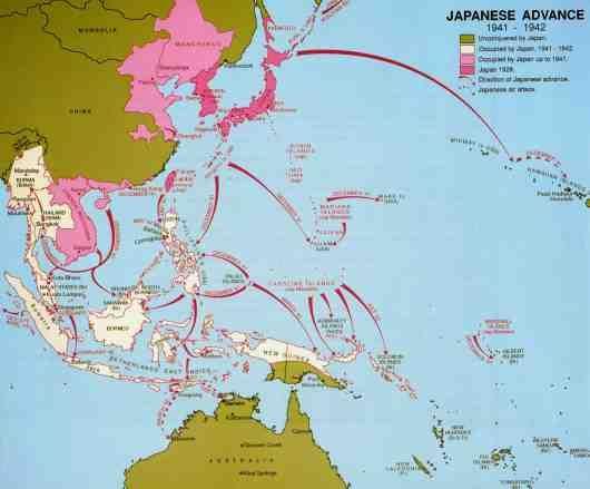 Japanese advance map World War II Maps Pinterest History - copy map japan world war 2