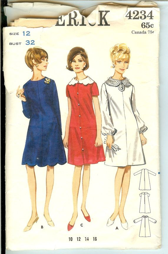 Tent Dress 60s Vintage Sewing Pattern Butterick 4234 by Finders2  sc 1 st  Pinterest & Tent Dress 60s Vintage Sewing Pattern Butterick 4234 by Finders2 ...