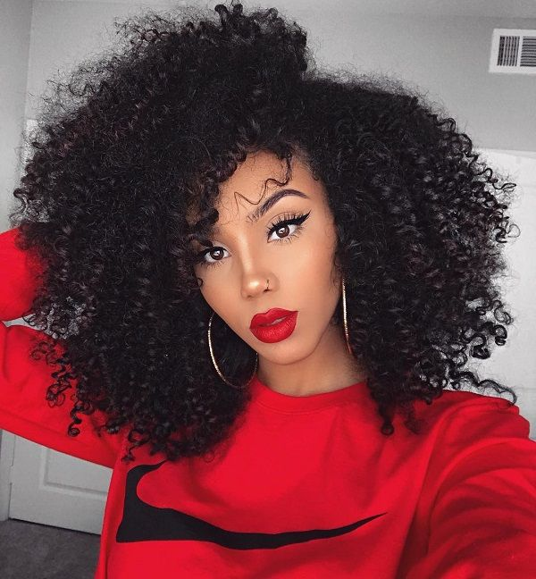 free afro curly kinky natural hair for Christmas holiday