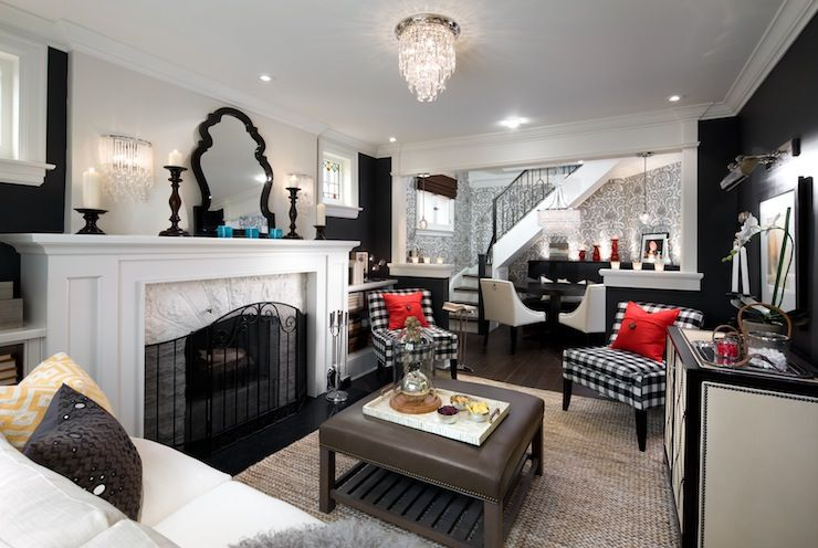 classy candice olson living rooms pictures. Candice Olson  living rooms Jonathan Adler Queen Anne Mirror black and white
