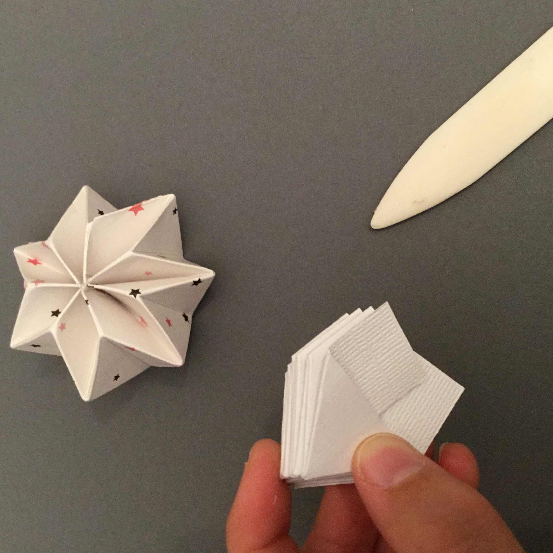 Tardisblau Plissee Sterne Origami Stern Falten Origami Design Basteln Weihnachten