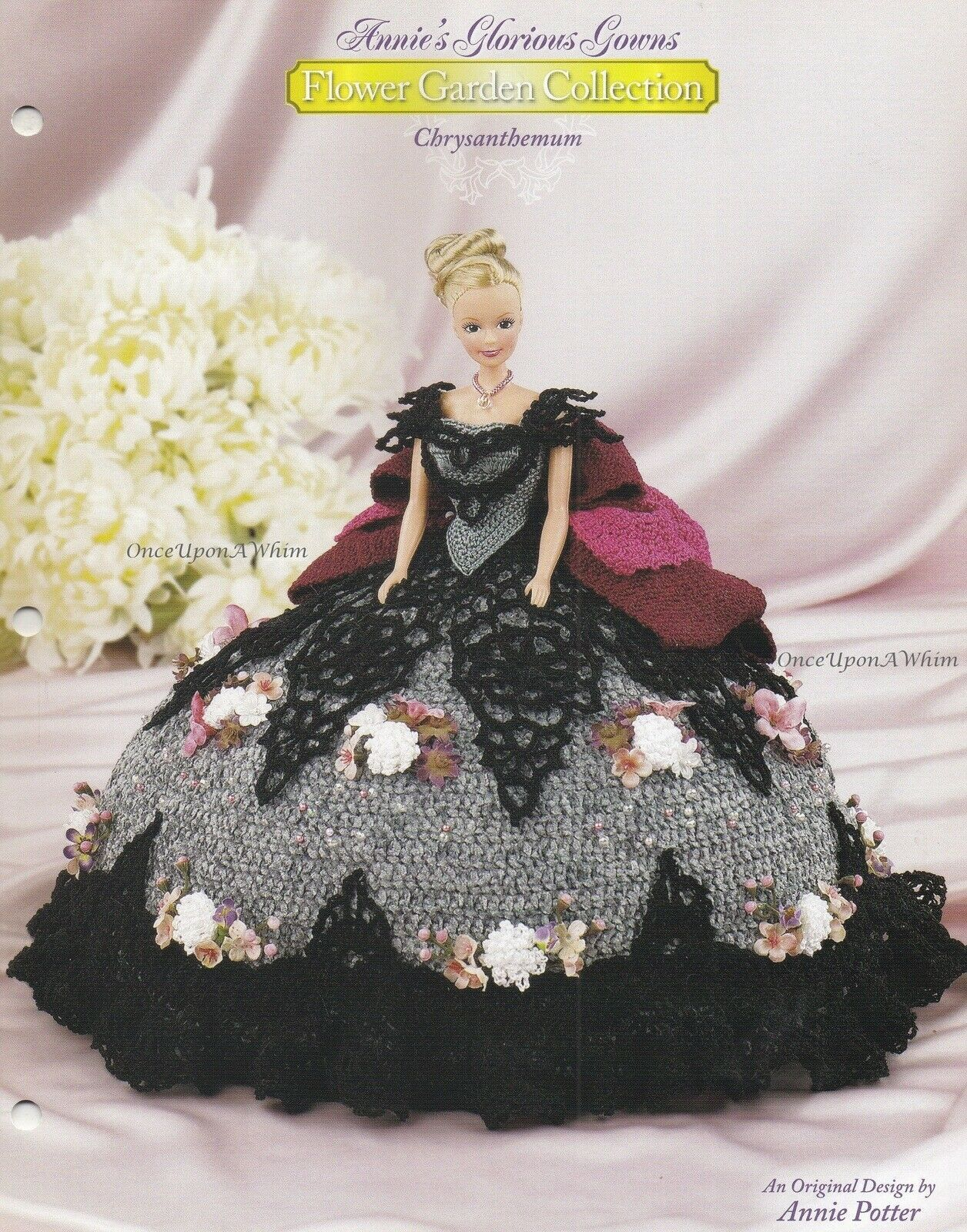 Chrysanthemum, Annie's Glorious Gowns Flower Garden Crochet Pattern Booklet 8811 | eBay #dolldresspatterns