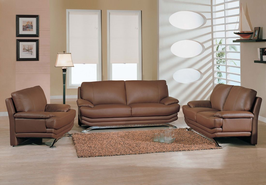 Modern Living Room Leather Furniture