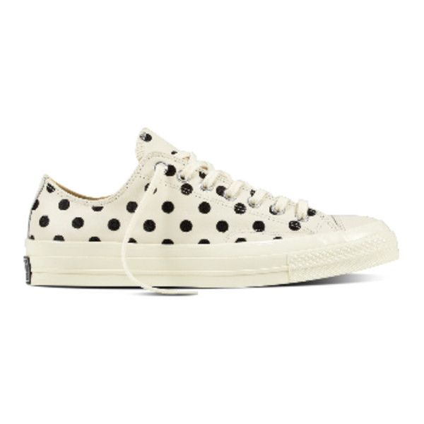 6d5979d572f3 Converse White Polka Dot Chuck Taylor All Star 70 Ox Sneakers ( 57) ❤ liked  on Polyvore featuring shoes