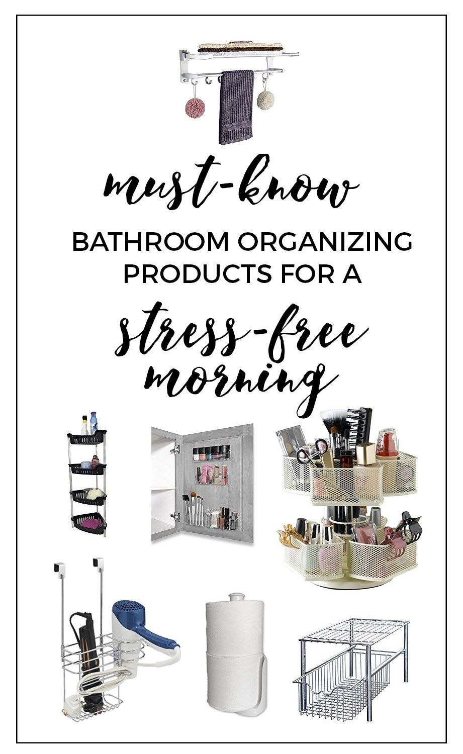 Bathroom Organizing Products - These are some great (and affordable) hacks to organize your bathroom