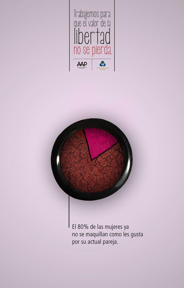 Muestra del Instituto Superior de Publicidad Valor: Libertad // Equipo creativo: Agustina Alvarez, Emilia Lodigiani (DA) y Sandra Vargas (Red)  Nombre de la campaña: La libertad, un valor que se está perdiendo // Pieza: Maquillaje.