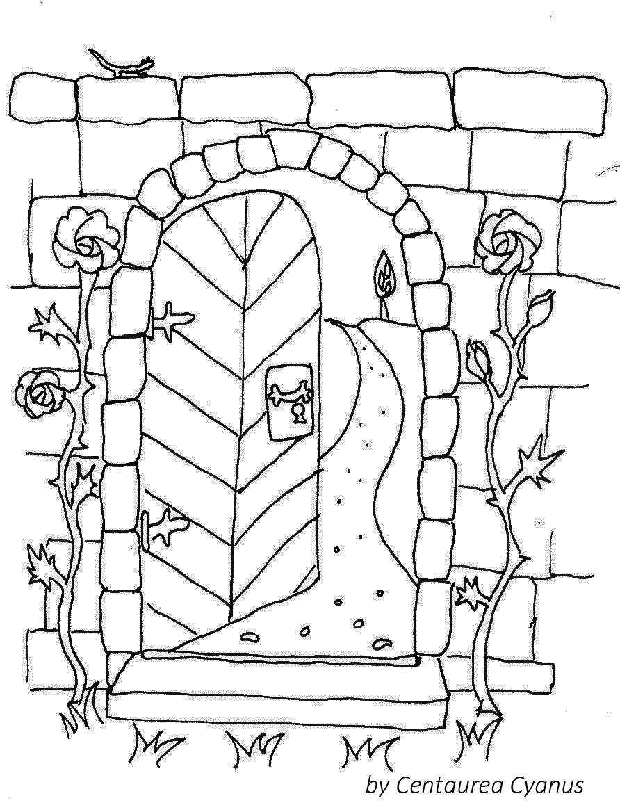 Coloring Page By Cetaurea Cyanus Garden Gate
