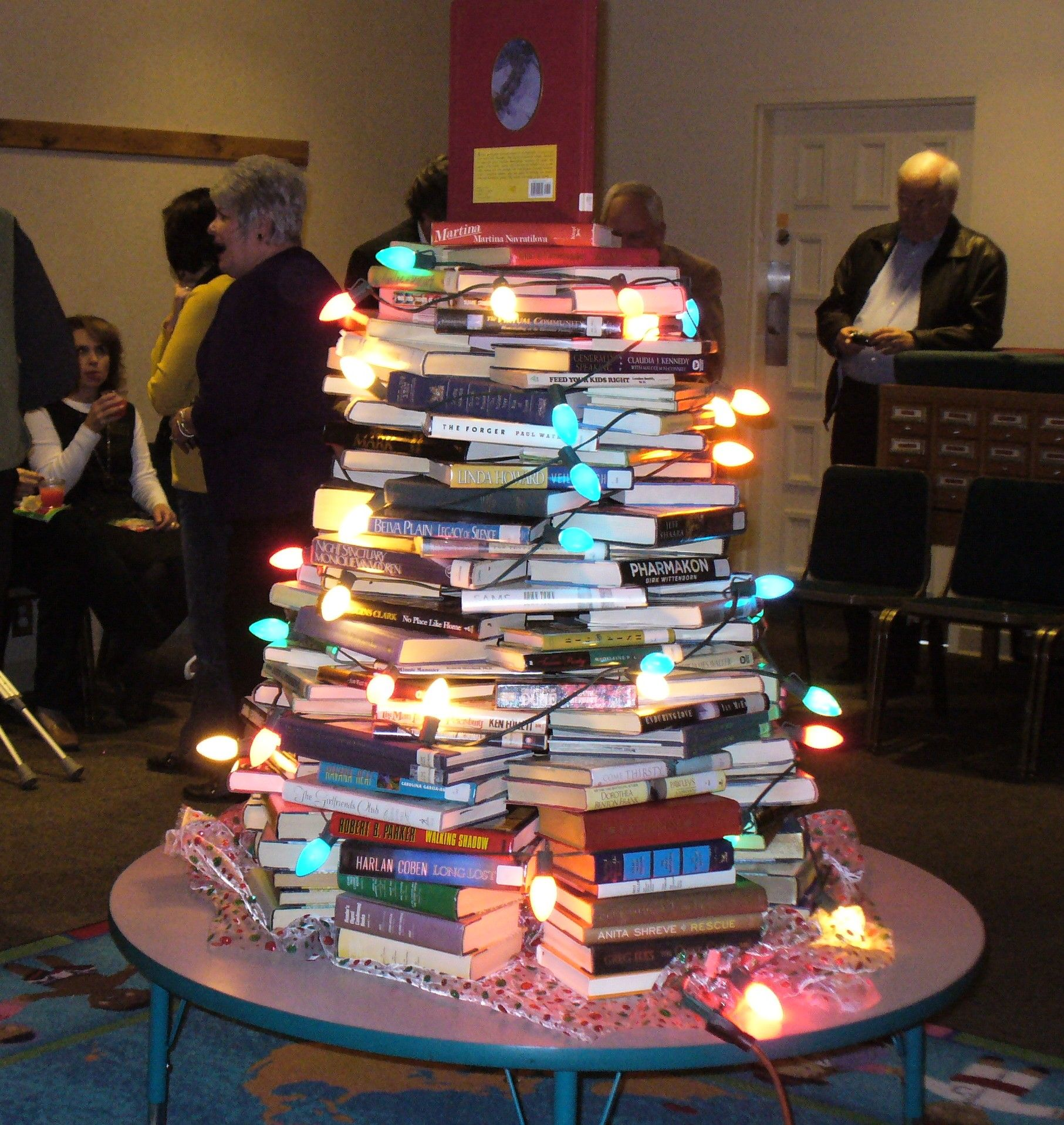 for a librarians gathering - a book tree!