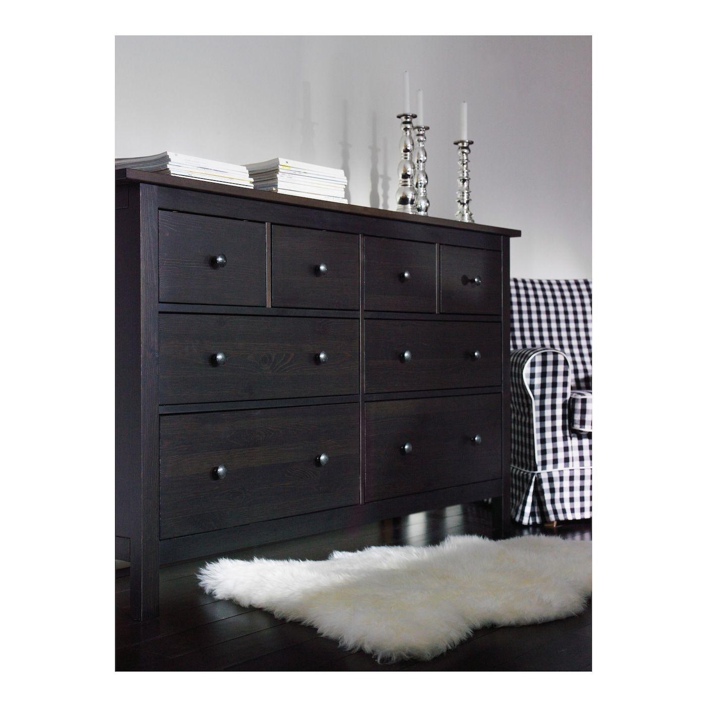 Hemnes 8drawer dresser blackbrown 63x37 34 ikea