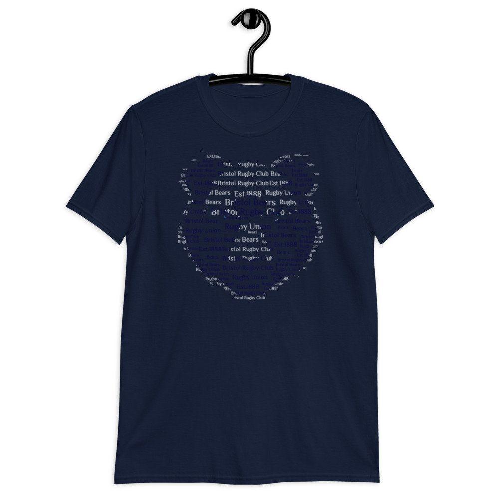 Worcester Warriors Rugby T-Shirt Word Art Ball Shirt