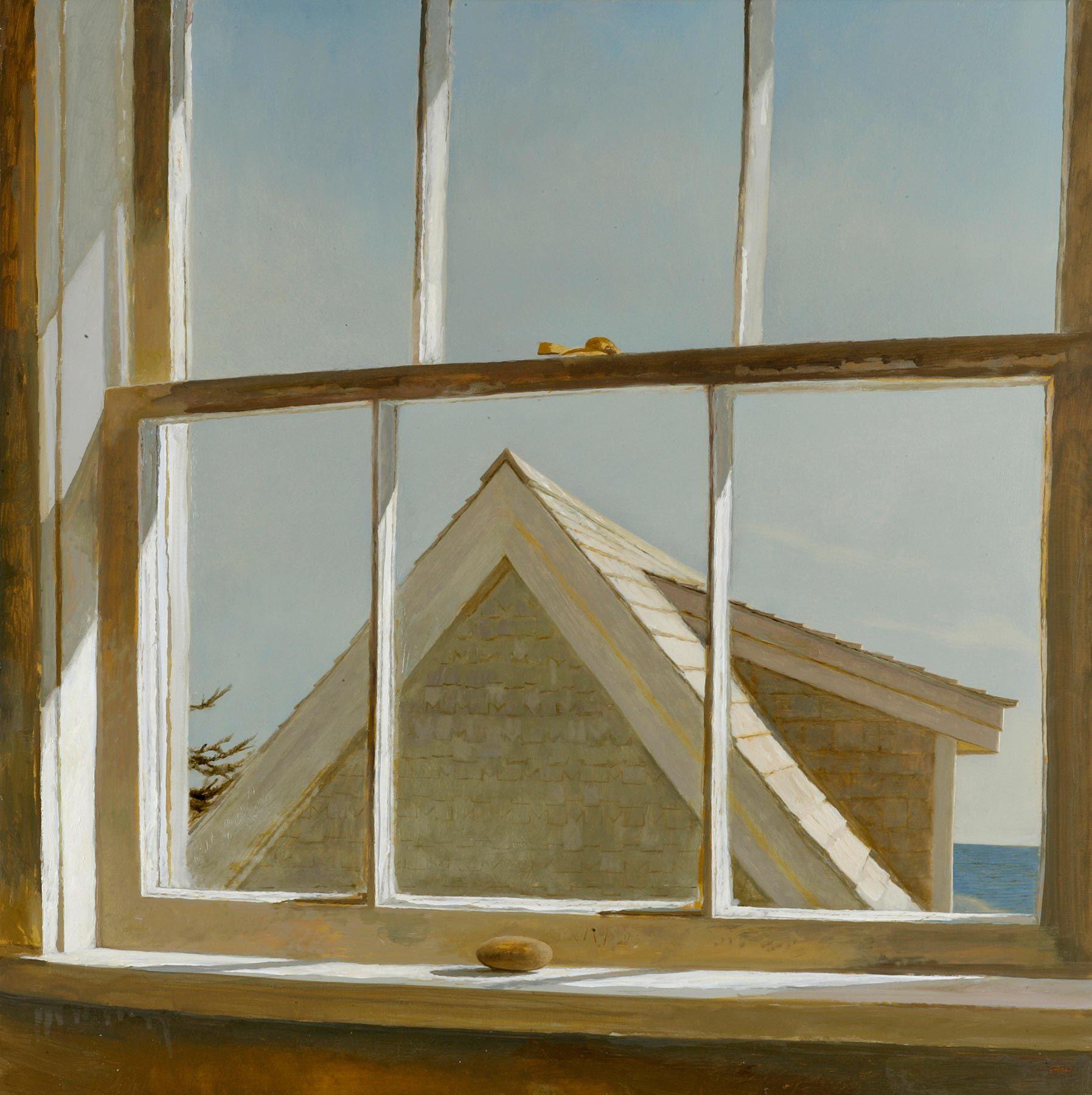 """Bo Bartlett,  """"The End of Summer""""   2006 • Oil on Panel • 33 x 33"""