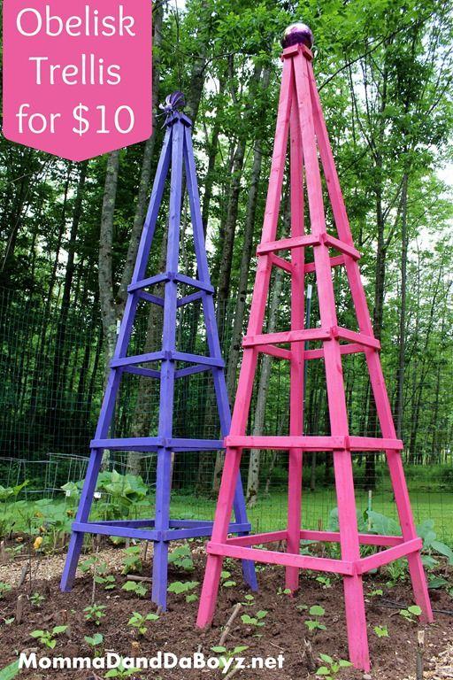 DIY Trellis, Wood Trellis, Obelisk Trellis Obelisk