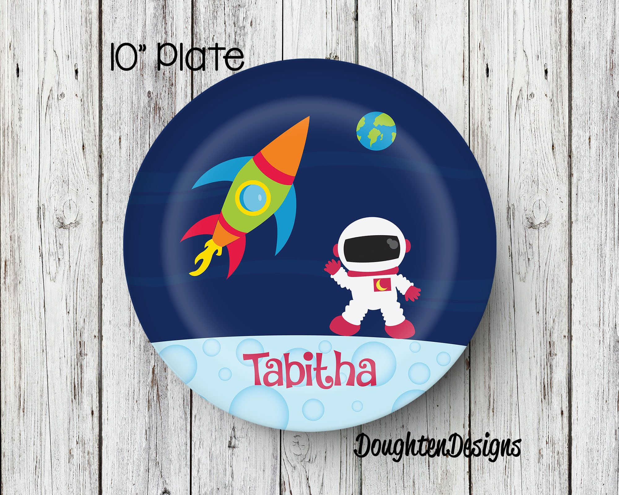 Space Girl Plate Personalized Plate Personalized Rocketship plate Melamine Plate Kids Dinner  sc 1 st  Pinterest & Space Girl Plate Personalized Plate Personalized Rocketship plate ...