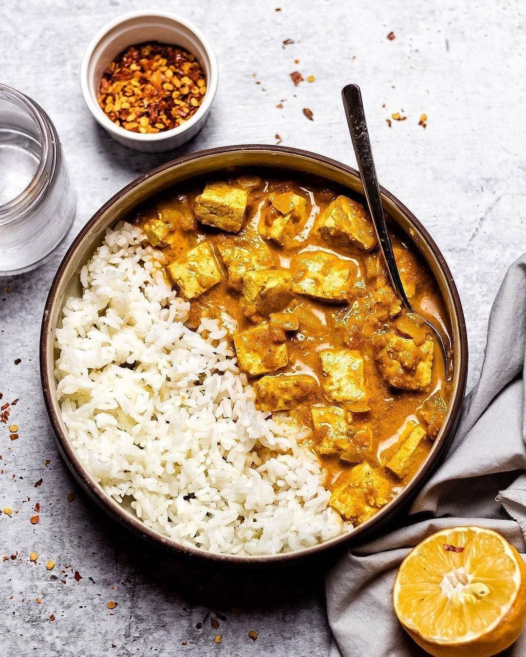 Vegan Plant Based Recipes On Instagram Tofu Tikka Masala By