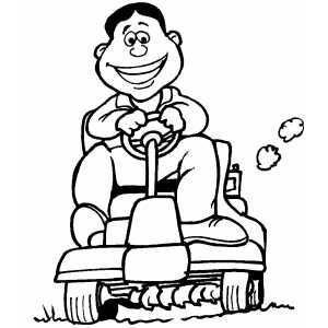 Riding Lawnmower Printable Coloring Page Free To Download And