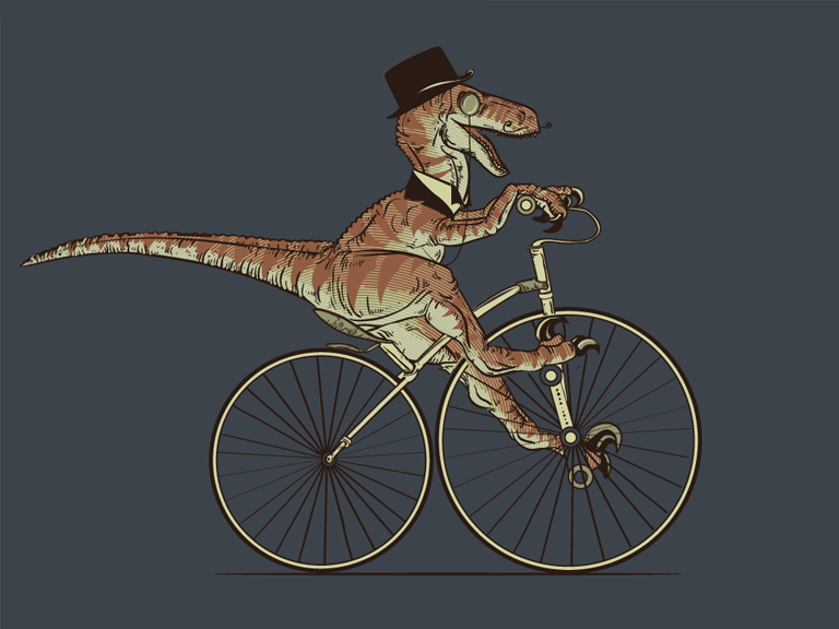 Motorcycle Hat Pin Dinosaur Biker Dino Scary