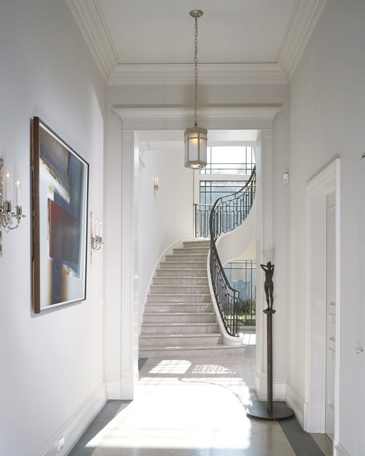 Beautiful Front Hall And Staircase: Beautiful Lines- Not To Use Picket Design But I Do Like