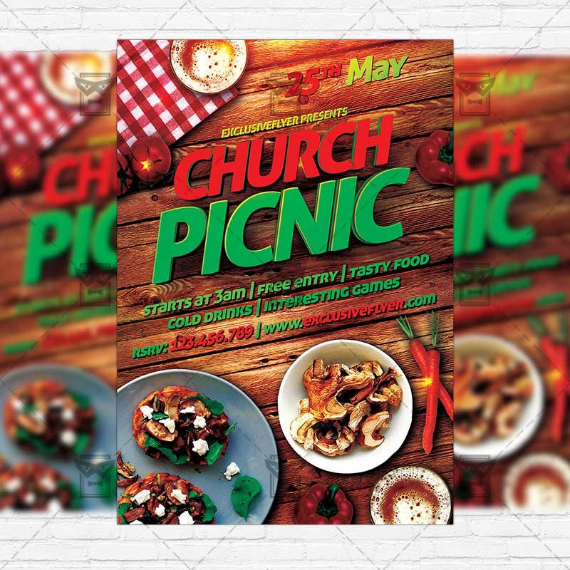 Church Picnic-2 - Premium Flyer Template + Instagram Size Flyer