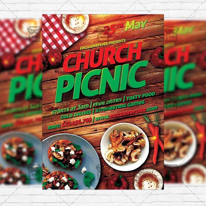 Church Picnic-2 - Premium Flyer Template + Instagram Size Flyer ...