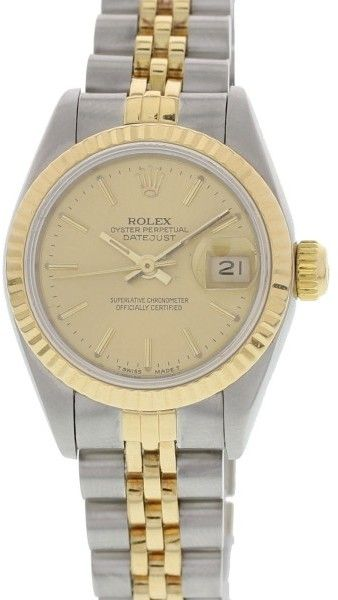 a9f03bace06 Rolex 69173 Datejust 18K Yellow Gold   Stainless Steel 26mm Womens Watch