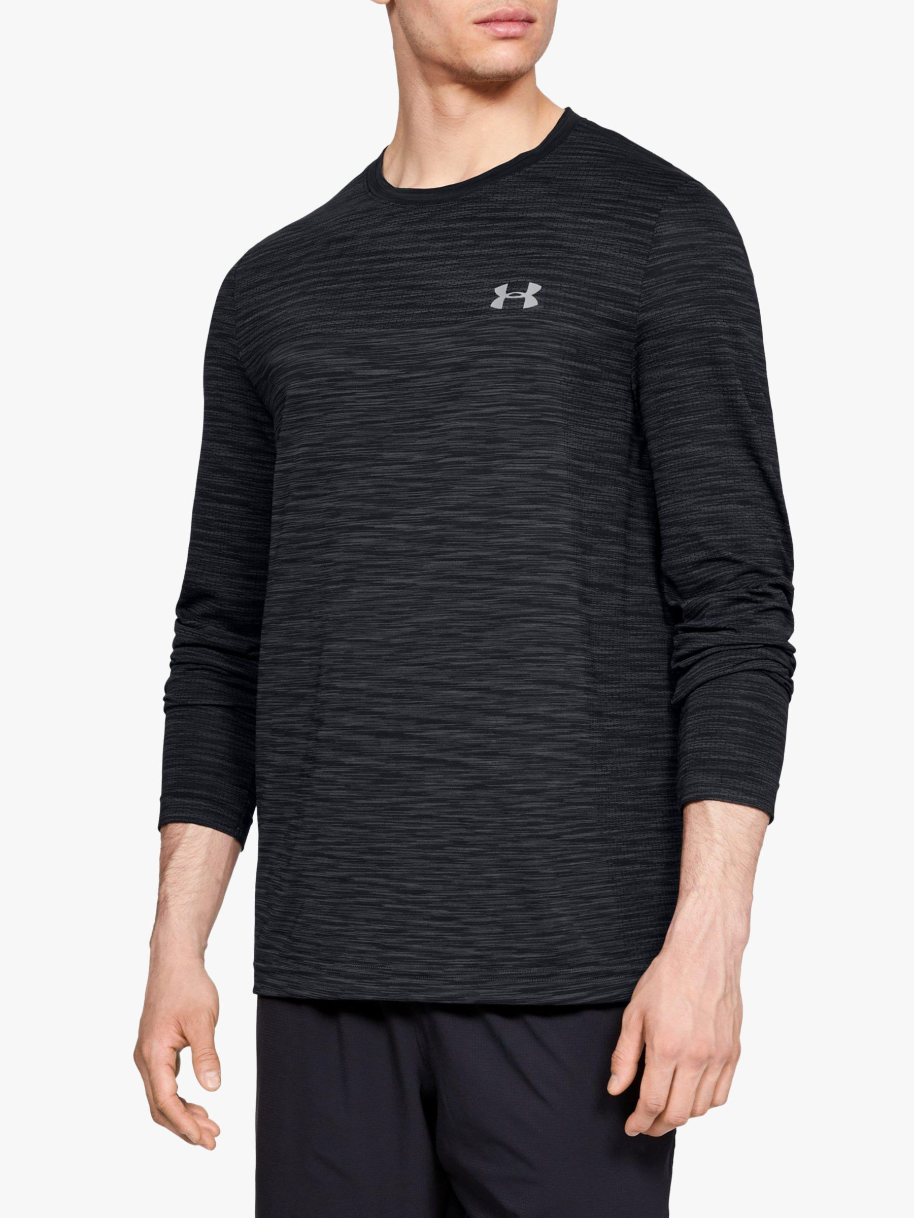 Under Armour Vanish Mens Training Top Grey Camo Seamless Short Sleeve Gym Sports